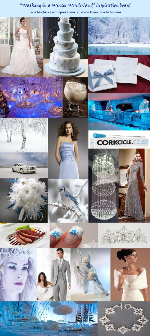 """Walking in a Winter Wonderland"" inspiration board; Two Chic Chicks Boutique - 1/19/2013"